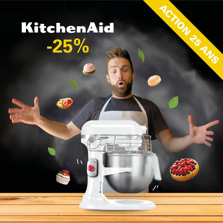 Action 25% Robot pâtissier multifonction KitchenAid 5KSM7990X