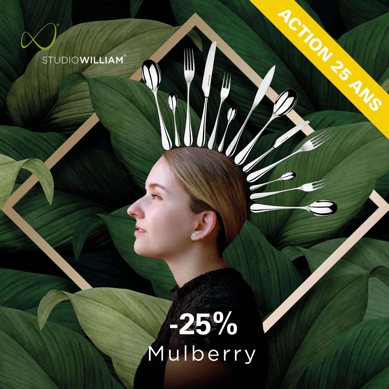 Couverts de table Mulberry de STUDIO WILLIAM